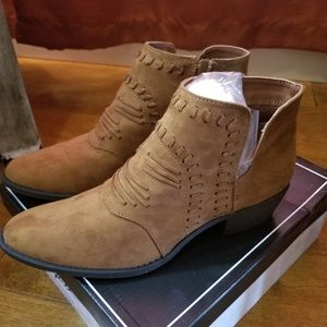 Brand New Maple Suede Qupid Booties